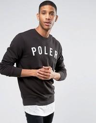 Свитшот с большим логотипом Poler - Черный