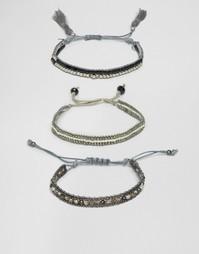 Набор браслетов с бисером и кисточками Ashiana - Серый