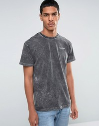 Выбеленная футболка Illusive London - Черный