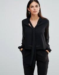 Блузка с бантом TFNC - Черный