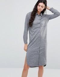 Платье миди с длинными рукавами Minimum Dua - Серый