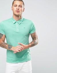 Окрашенная футболка-поло Scotch and Soda - Зеленый