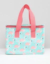 Коробка для завтрака с принтом фламинго Sass & Belle - Мульти