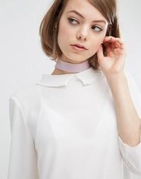 Сиреневое замшевое ожерелье‑чокер Rock N Rose - Фиолетовый