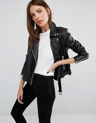 Кожаная куртка Y.A.S Ash - Черный