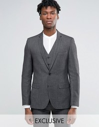 Серый пиджак узкого кроя Harry Brown - Серый
