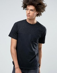 Черная футболка в крапинку с короткими рукавами Nike SB 800163-010 - Черный