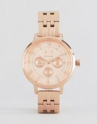 Часы цвета розового золота Armani Exchange AX5374 - Золотой