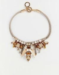 Броское ожерелье Nali Beetle - Золотой