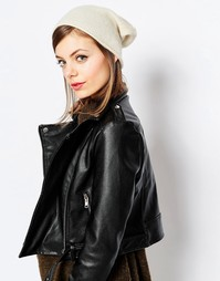 Кашемировая шапка-бини Hat Attack - Кремовый