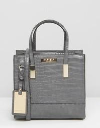 Маленькая сумка через плечо с эффектом крокодиловой кожи Carvela - Серый