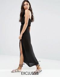 Пляжное платье с ажурной отделкой Akasa - Черный