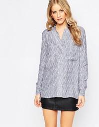 Рубашка светло-лилового цвета Just Female Grape - Синий