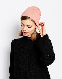 Свободная шапка-бини из легкого трикотажа Hat Attack - Розовый