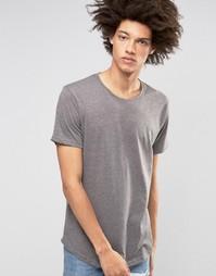Длинная футболка Troy - Серый