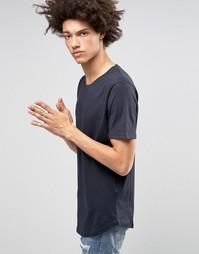 Длинная футболка Troy - Темно-синий