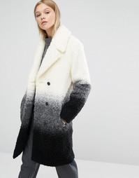 Фактурное пальто из ткани букле с градиентной окраской Native Youth - Мульти