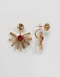 Серьги с кристаллами Swarovski Krystal Sunset - Золотой