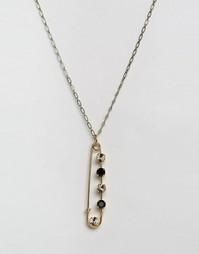Ожерелье с кристаллом Swarovski Krystal - Золотой