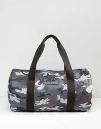 Стеганая сумка с серым камуфляжным принтом Heist - Серый