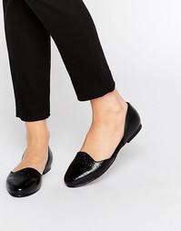 Туфли на плоской подошве из 2 частей Park Lane - Черный