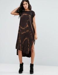 Oversize-платье макси с принтом тай‑дай NYTT Leese - Черный