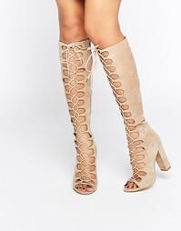 Бежевые сапоги на шнуровке Kendall & Kylie - Бежевый
