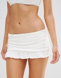Плавки бикини с оборками Coco Rave - Белый