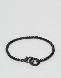 Черный матовый браслет-цепочка Icon Brand - Черный