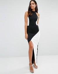 Монохромное платье макси Jessica Wright - Черный