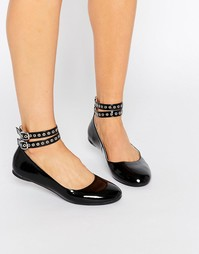 Черные туфли на плоской подошве Daisy Street - Черный