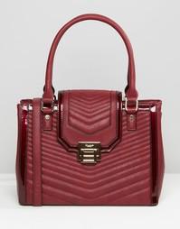 Стеганая сумка-тоут Dune - Красный