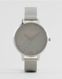 Часы с сетчатым ремешком Olivia Burton OB15BD80 - Серебряный