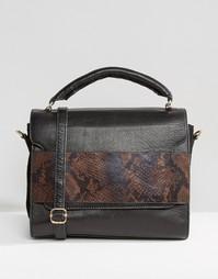 Кожаная сумка со съемным ремешком на плечо Urbancode - Черный