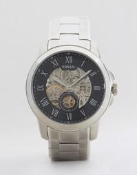 Серебристые наручные часы Fossil Grant - Серебряный