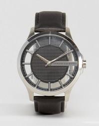 Часы с черным кожаным ремешком Armani Exchange AX2186 - Черный