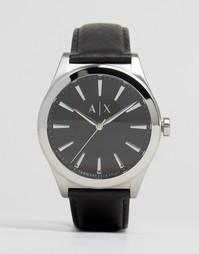 Часы с черным кожаным ремешком Armani Exchange AX2323 - Черный