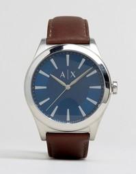 Часы с коричневым кожаным ремешком Armani Exchange AX2324 - Коричневый