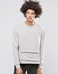 Свитер с карманом Systvm Keez - Серый