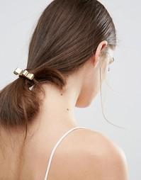 Резинка для волос с металлическим бантом Johnny Loves Rosie - Золотой