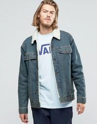 Синяя джинсовая куртка с воротником борг Vans Hargill VA2YP1KFM - Синий