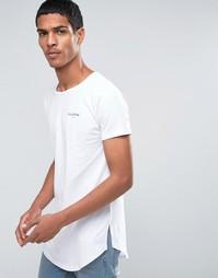 Длинная футболка с небольшим логотипом Illusive London - Белый