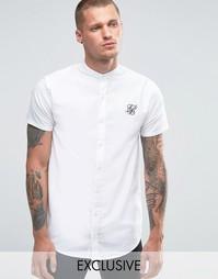 Рубашка зауженного кроя с воротником на пуговицах SikSilk - Белый
