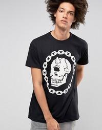 Oversize-футболка Long X Mishka Chain - Черный