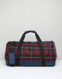 Дорожная сумка в шотландскую клетку Mi Pac - Красный