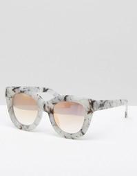 Эксклюзивные солнцезащитные очки с линзами цвета розового золота Quay Australia - Серый