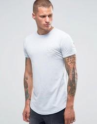 Облегающая футболка с логотипом Gym King - Синий