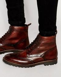 Кожаные ботинки на шнуровке Base London Troop - Коричневый