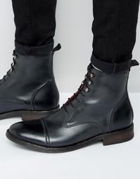 Кожаные ботинки на шнурках Base London Clapham - Черный