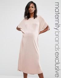 Oversize-платье для беременных Missguided Maternity - Бежевый